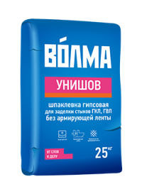 """Шпатлевка гипсовая Волма """"Унишов"""" 25 кг."""